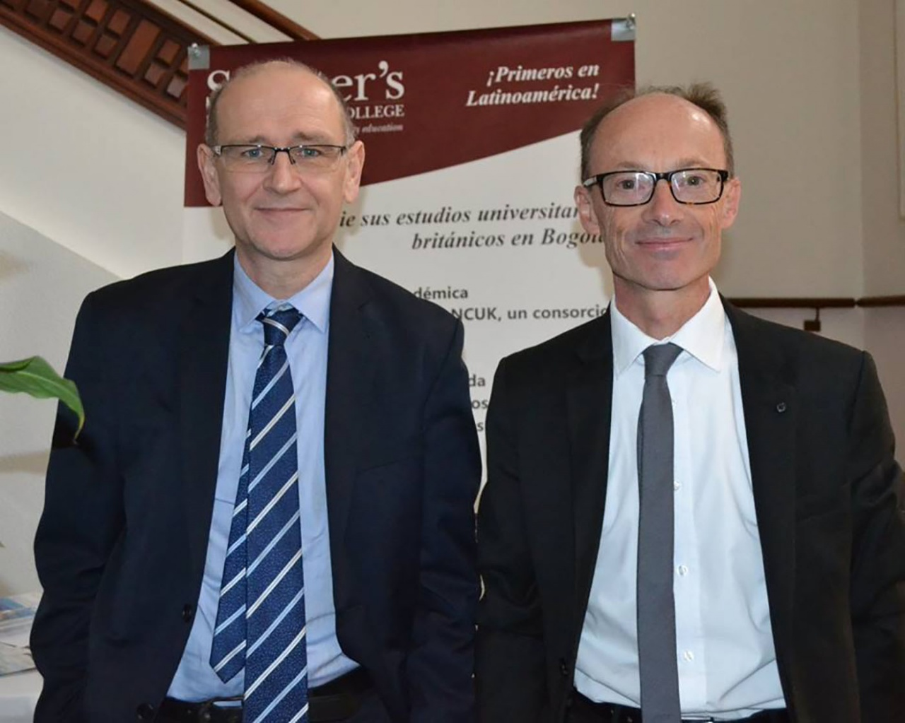Dr Gareth Evans and Peter Dale