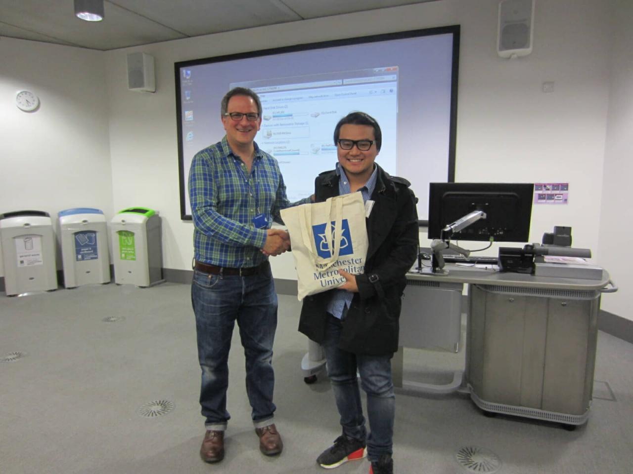 Dr Stephen Buzdugan and student