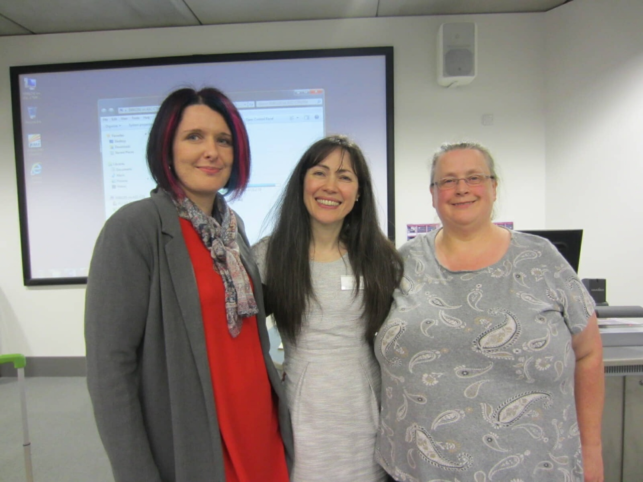 Conference leaders Debbie Lea, Florencia Franceschina and Jen Magson