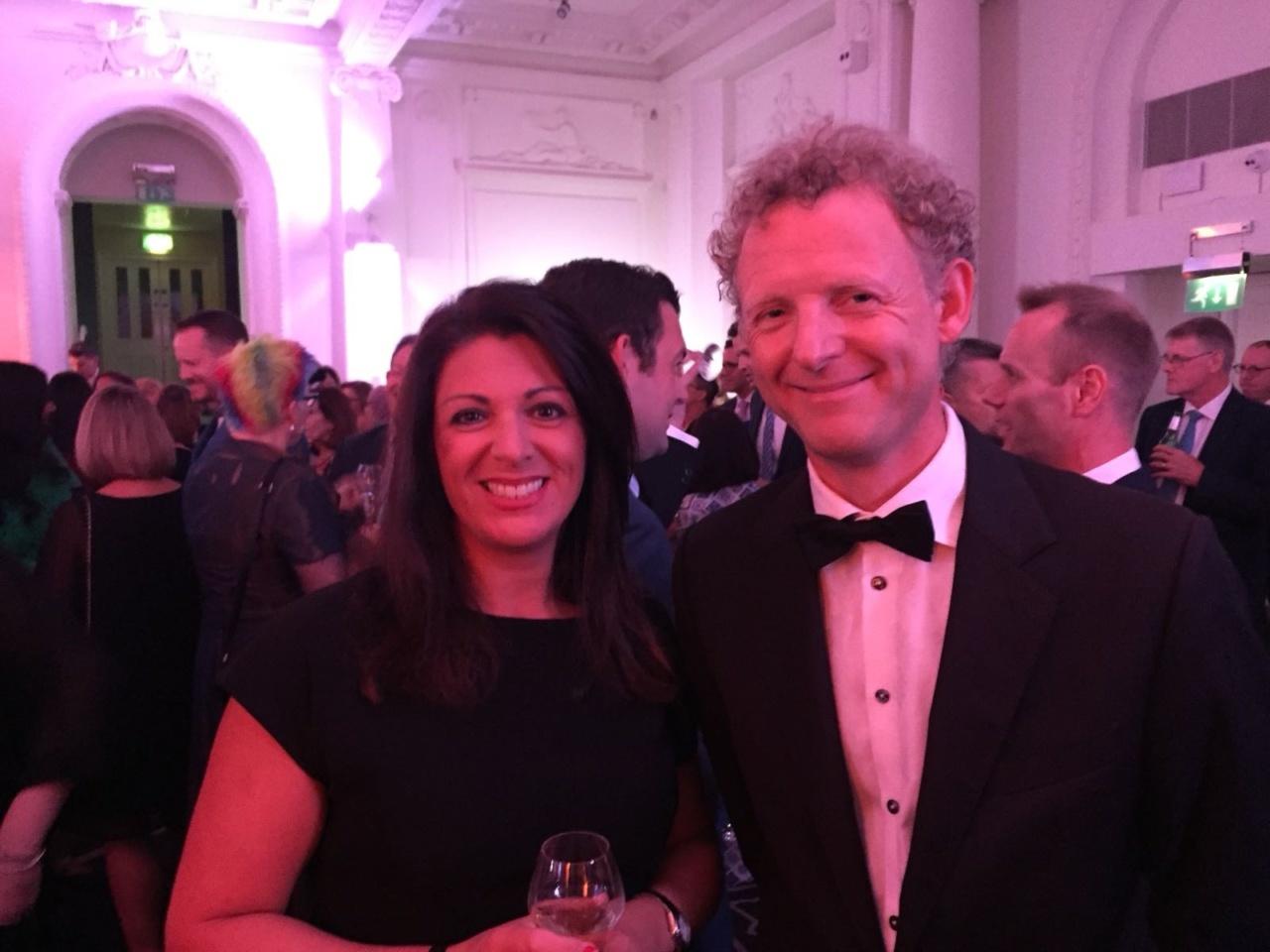 NCUK's Maria McKenna with British Study Centres' Steve Phillips