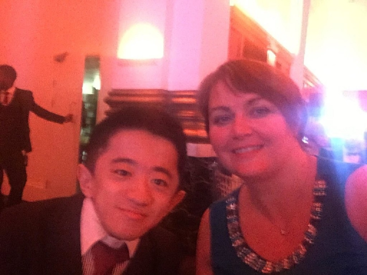 NCUK Alumnus & PIEoneer Awards winner Liu Daming with NCUK's Georgina Jones