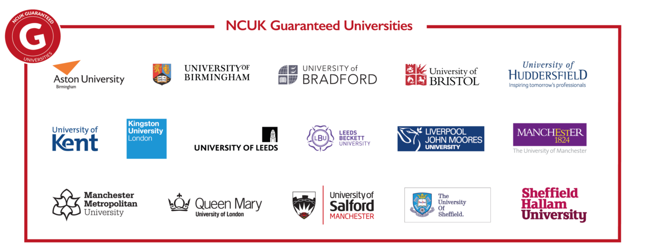 Universités garanties par le NCUK