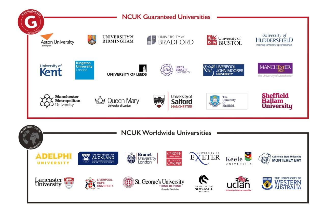 NCUK Guaranteed Universities
