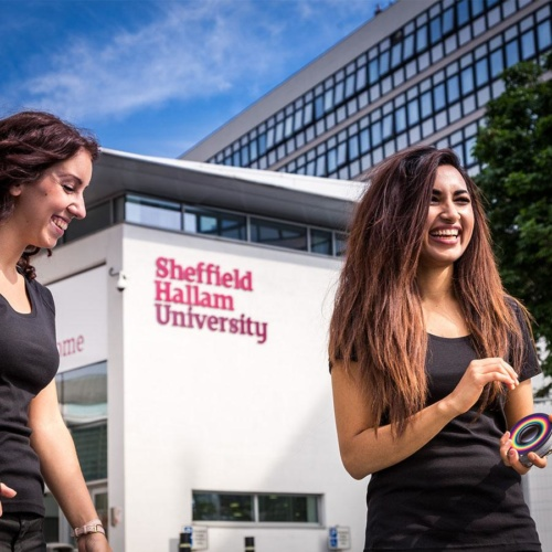 Studenten an der Sheffield Hallam University