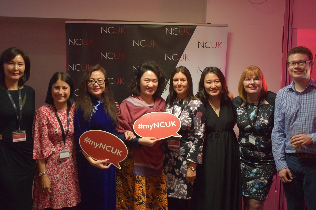 NCUK staff alongside a number of our international delivery partners.