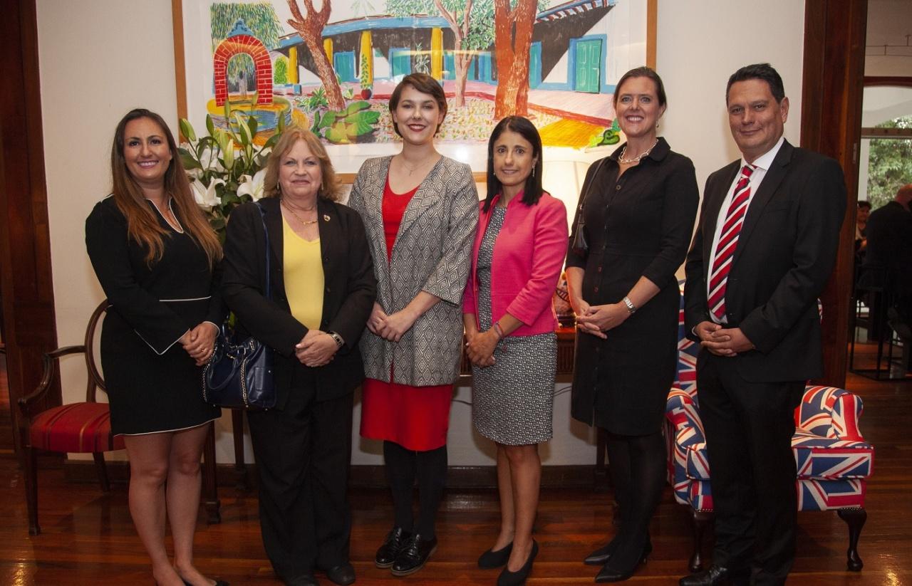 (From left to right) Natasha Tanfara, Louise Batchelder, Jessica Swann, Laura Rivieccio, Mrs Corin Robertson and Ariel López
