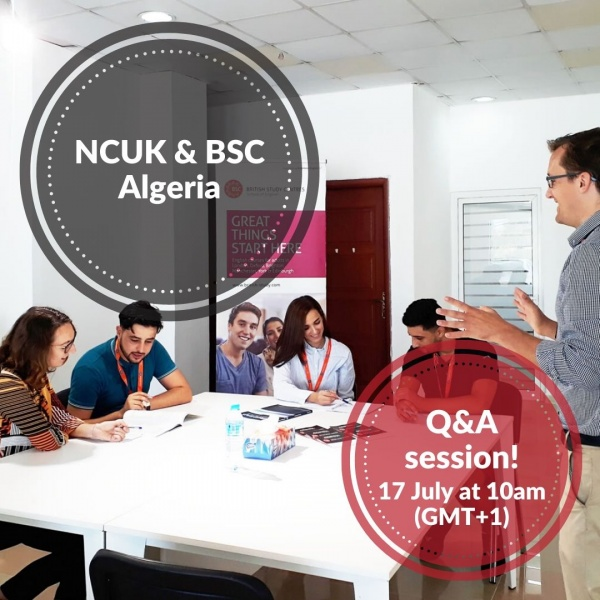 Join an upcoming webinar with NCUK and BSC Algeria